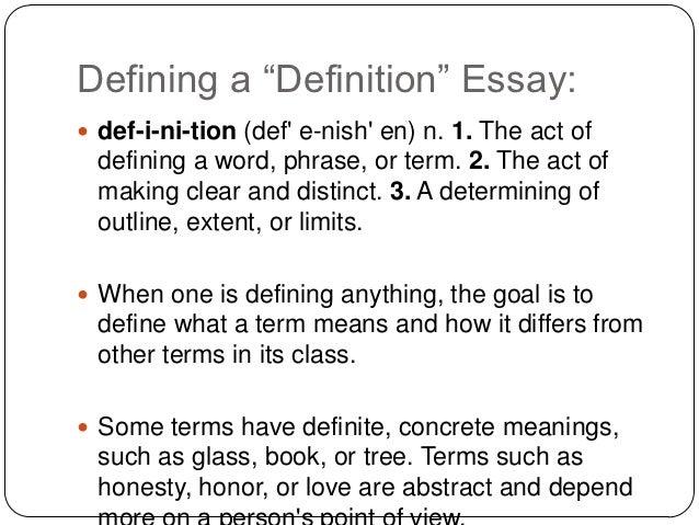 write a definition essay