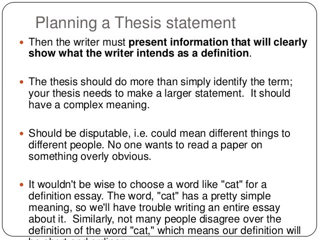 Meaning Thesis