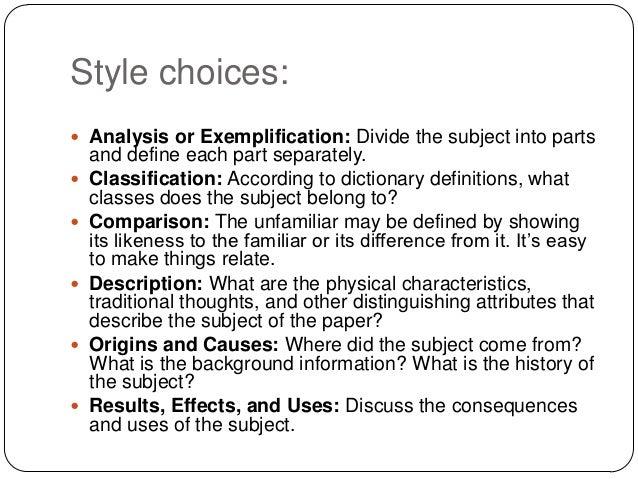 start good definition essay