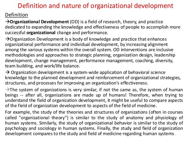 term paper organizational development