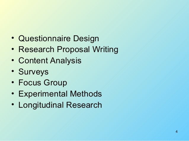 Short Research Proposal