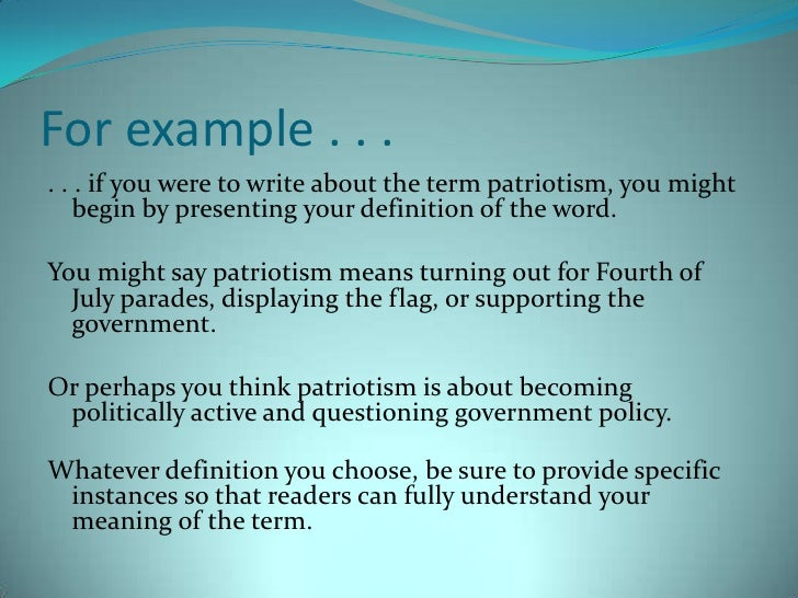 what is patriotism essay Check out our top free essays on patriotism to help you write your own essay.