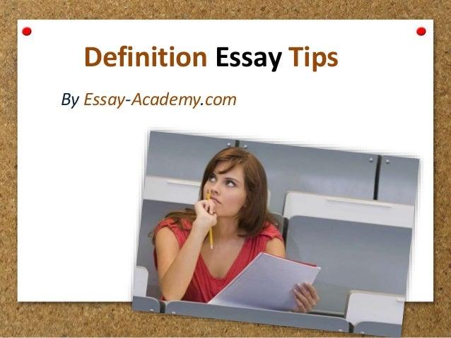 Techniques for definition essay