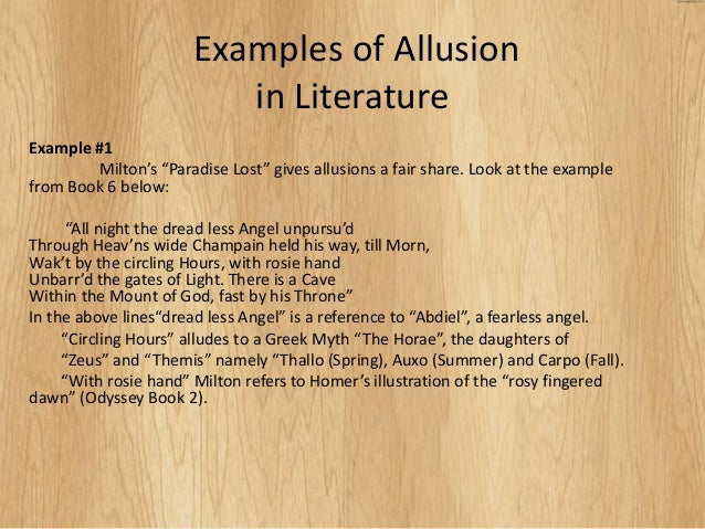 allusion essays At the end of her essay 'on alluding,' carmela perri observed that besides its   usage as a literary technique, 'allusion may also be a literary mode' and that.