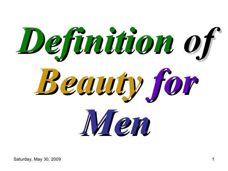 Definition Of Beauty For Men