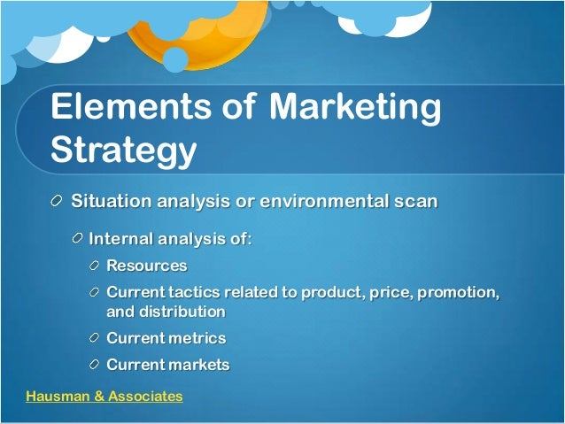 marketing manager situation analysis