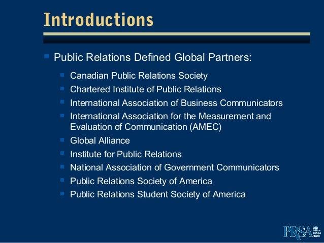Public relation definition