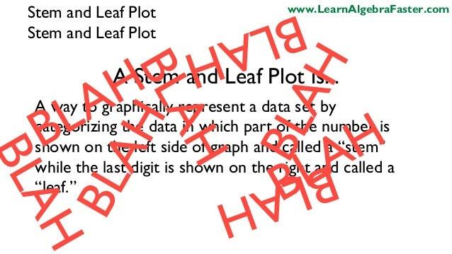 Stem and leaf plot template