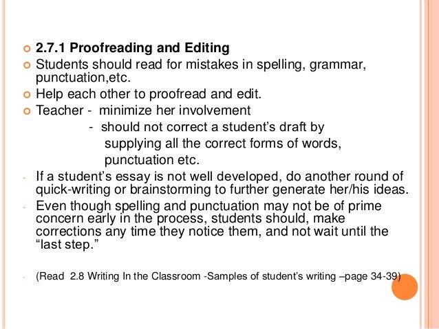 Proof reading meaning