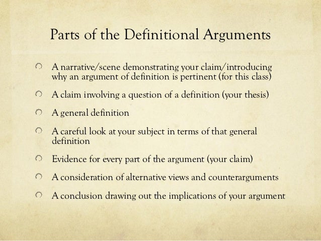Definitional essay topics