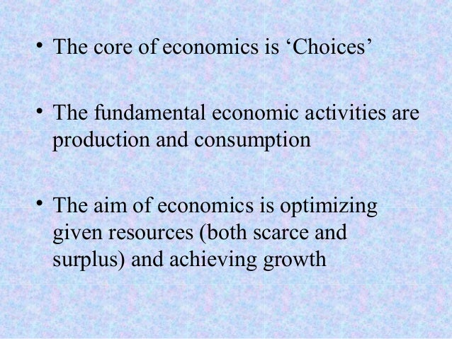 Chapter 1- Nature and Importance of Economics