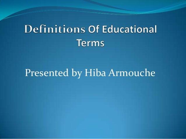 Presented by Hiba Armouche