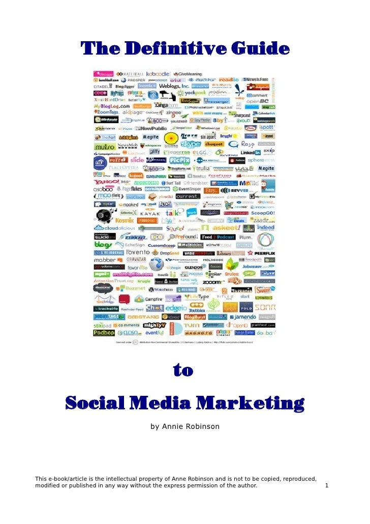 The Definitive Guide                                                      to           Social Media Marketing             ...