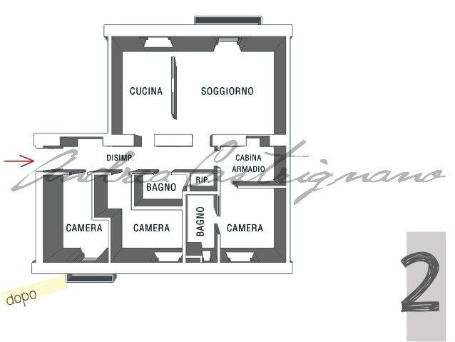 Camera Da Letto Con Parquet E Camino In Pietra Vista Mare Interior ...