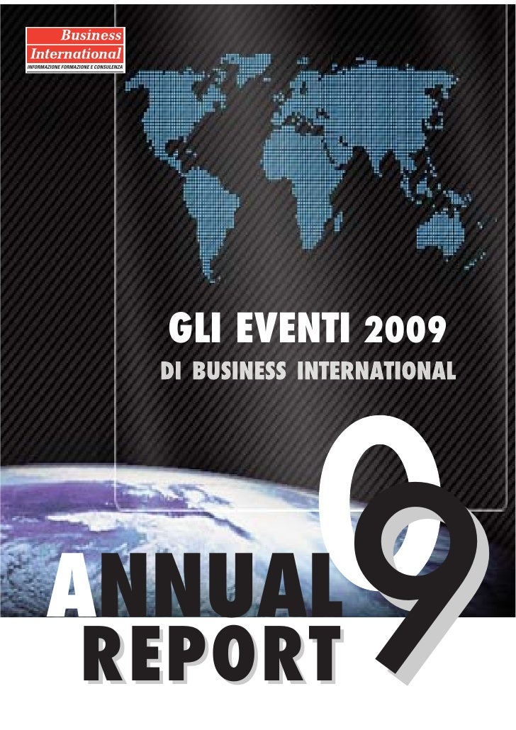 Business International Annual Report 2009