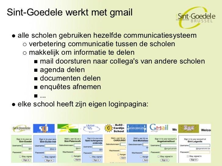 Sint-Goedele werkt met gmail  alle scholen gebruiken hezelfde communicatiesysteem      verbetering communicatie tussen de ...
