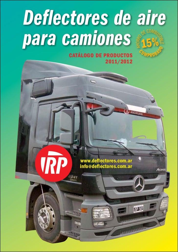 Deflectores RP Catalogo 2011-2012