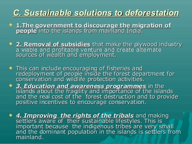 solutions to the problem of deforestation essay
