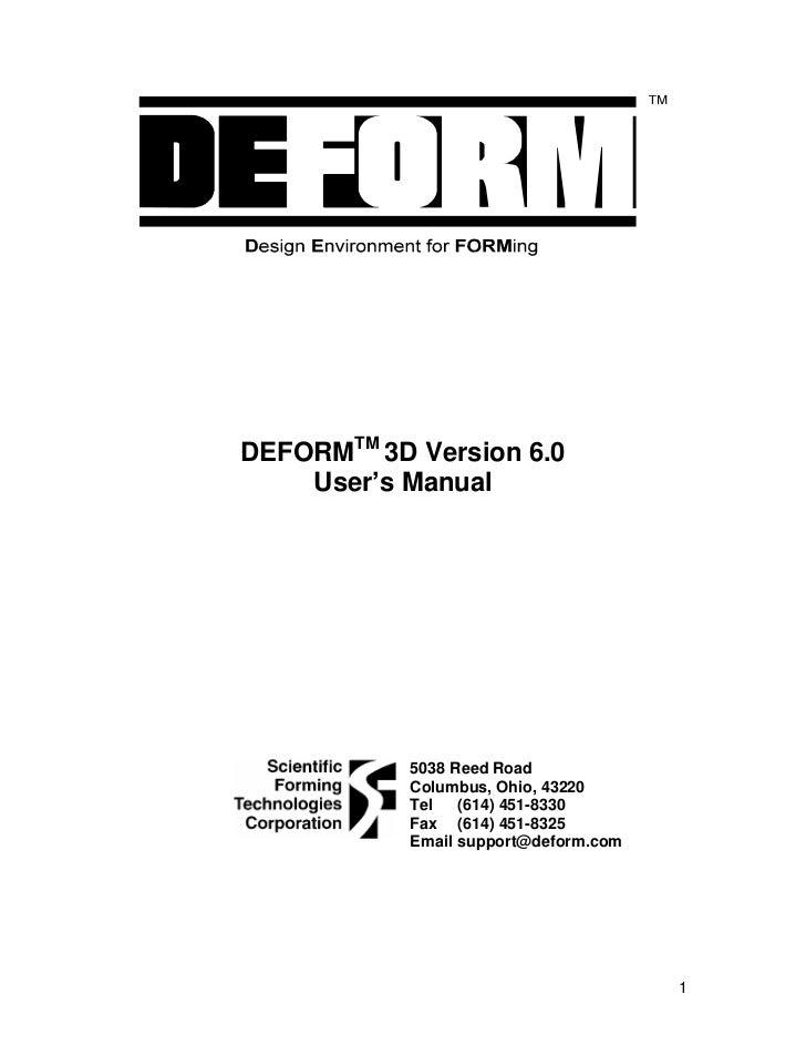 Deform 3 d v6.0