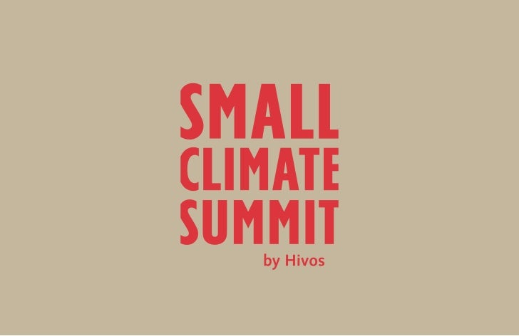 Small Climate Summit Sheets & Tweets