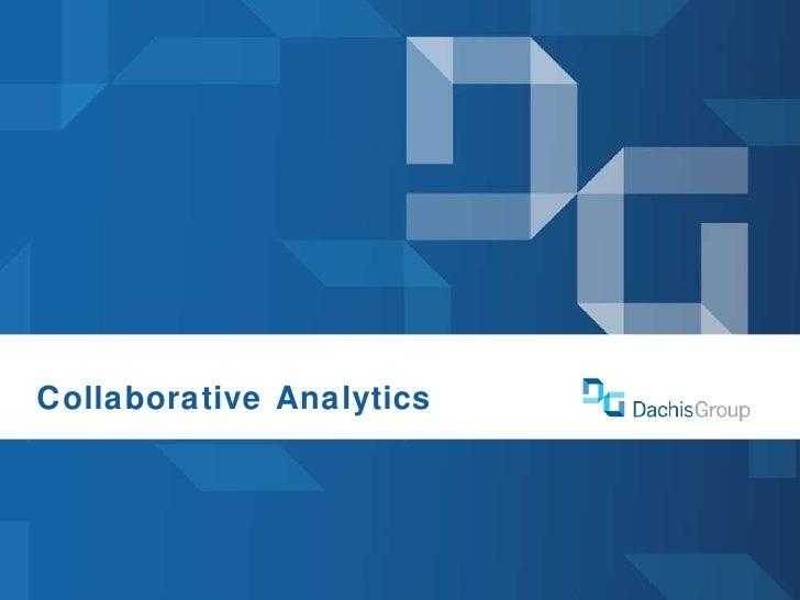 Defrag 2010 Collaborative Analytics