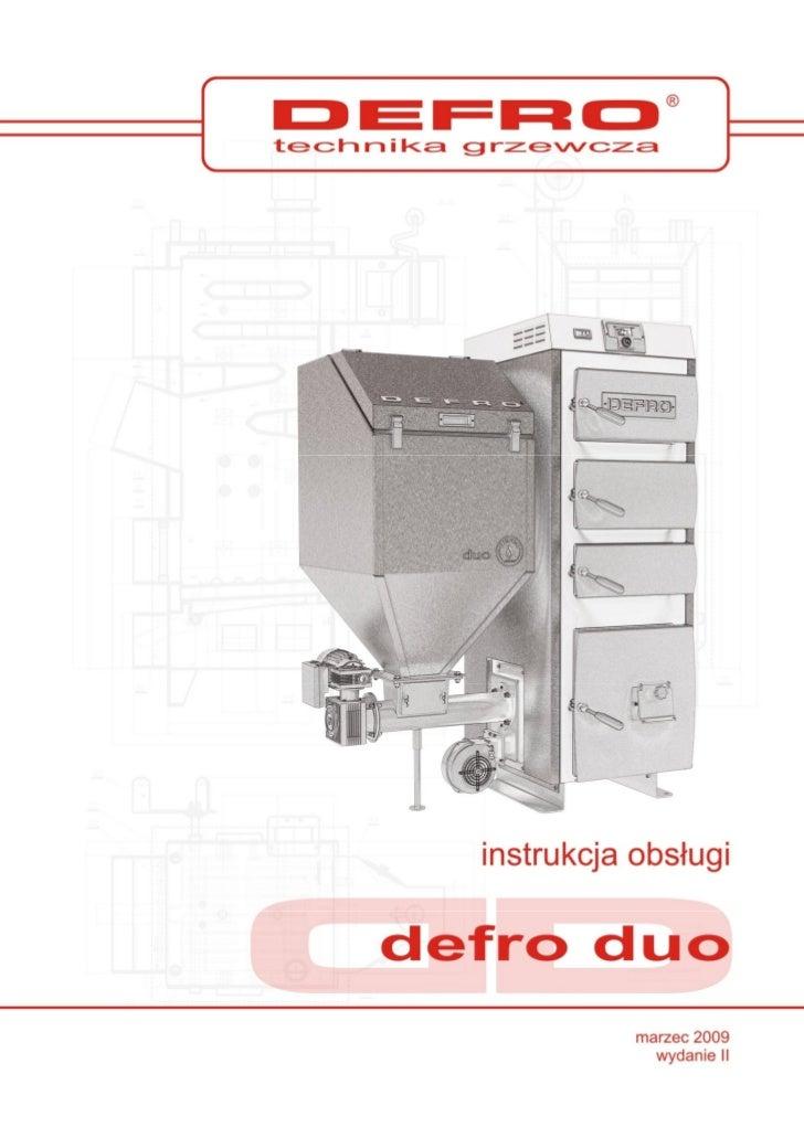 Defro Duo  - instrukcja obsługi