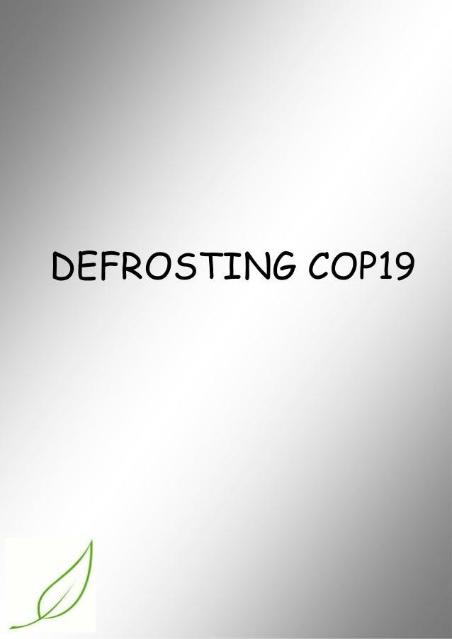 DEFROSTING COP19