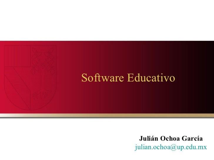 Software Educativo  Julián Ochoa García [email_address]