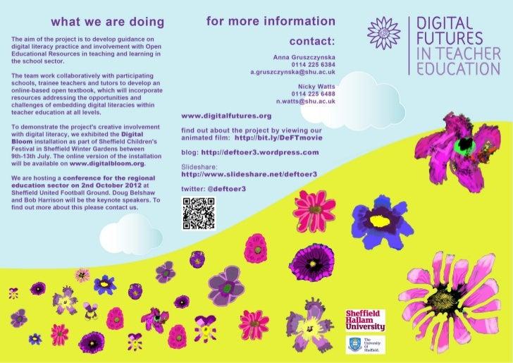 Digital Futures in Teacher Education second  leaflet