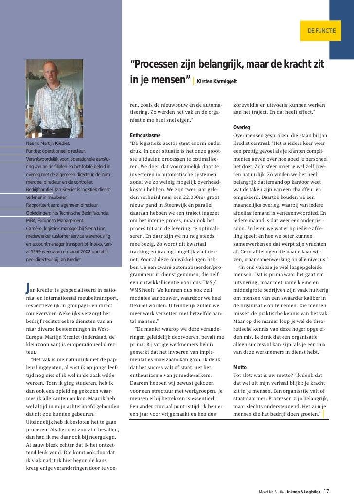 Tijdschrift voor Inkoop en Logistiek: De Functie