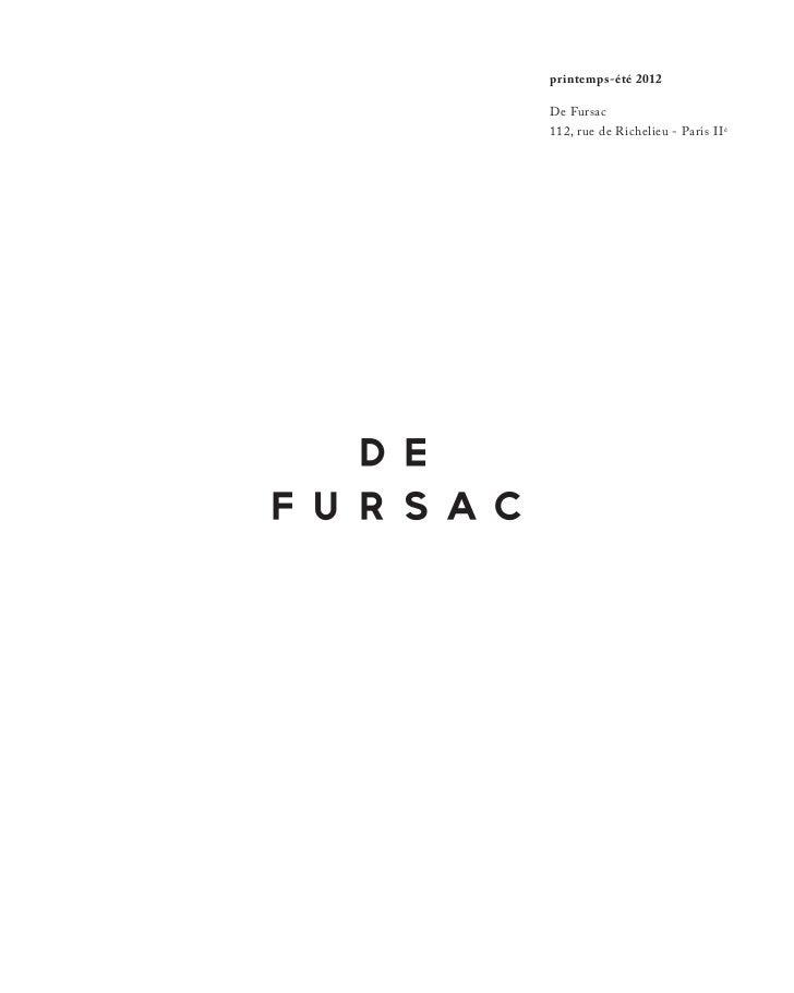 De Fursac Spring/Summer 2012 lookbook