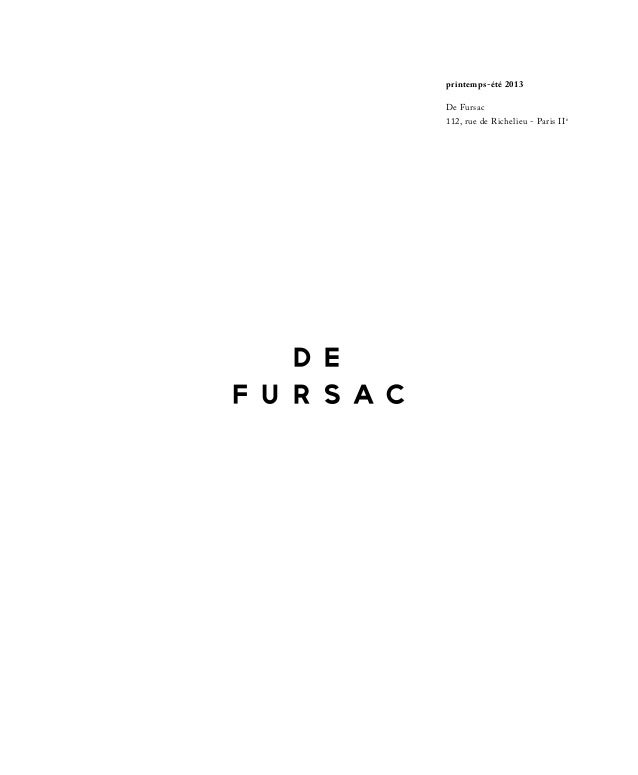 De Fursac lookbook Spring/Summer 2013