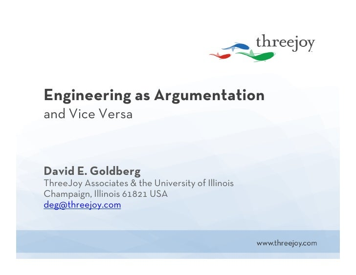 Engineering as Argumentation and Vice Versa