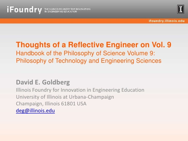 Thoughts of a Reflective Engineer on Vol. 9Handbook of the Philosophy of Science Volume 9: Philosophy of Technology and En...