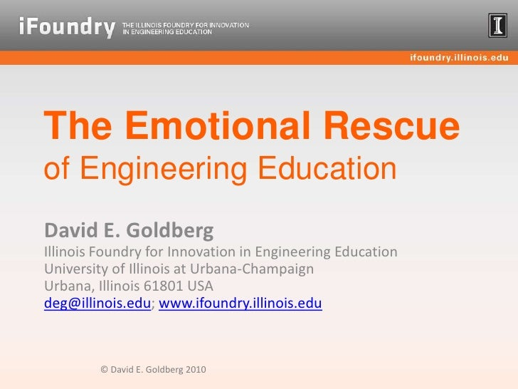 The Emotional Rescue of Engineering Education