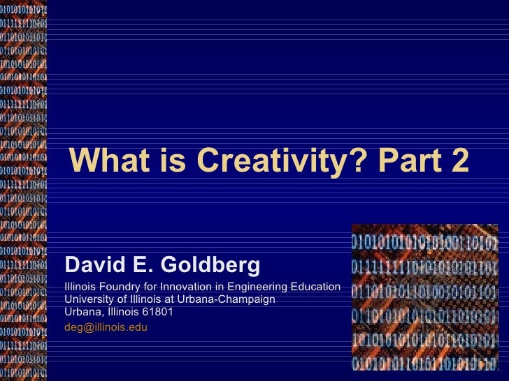 What is Creativity (Part 2)
