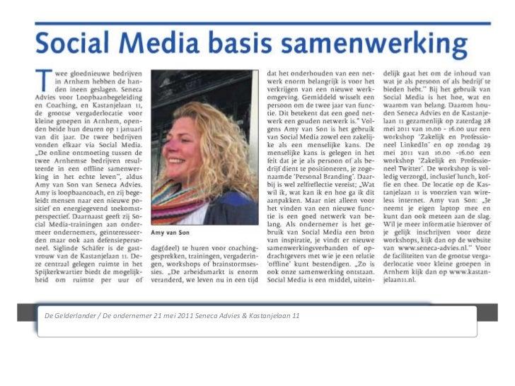 De Gelderlander / De ondernemer 21 mei 2011 Seneca Advies & Kastanjelaan 11<br />