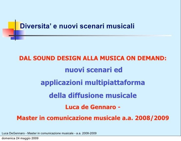 La Programmazione Musicale  - Luca DeGennaro