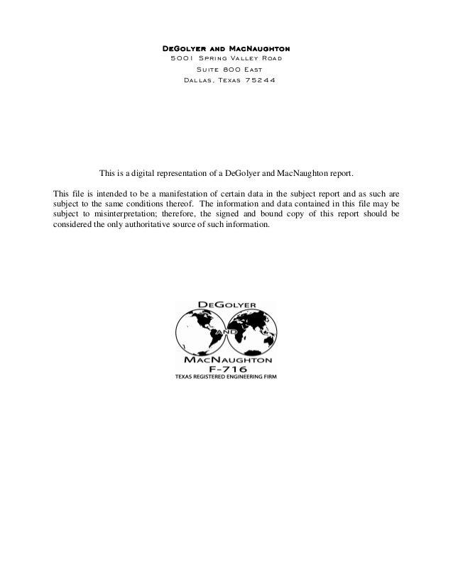 Relatório de reservas da OGX