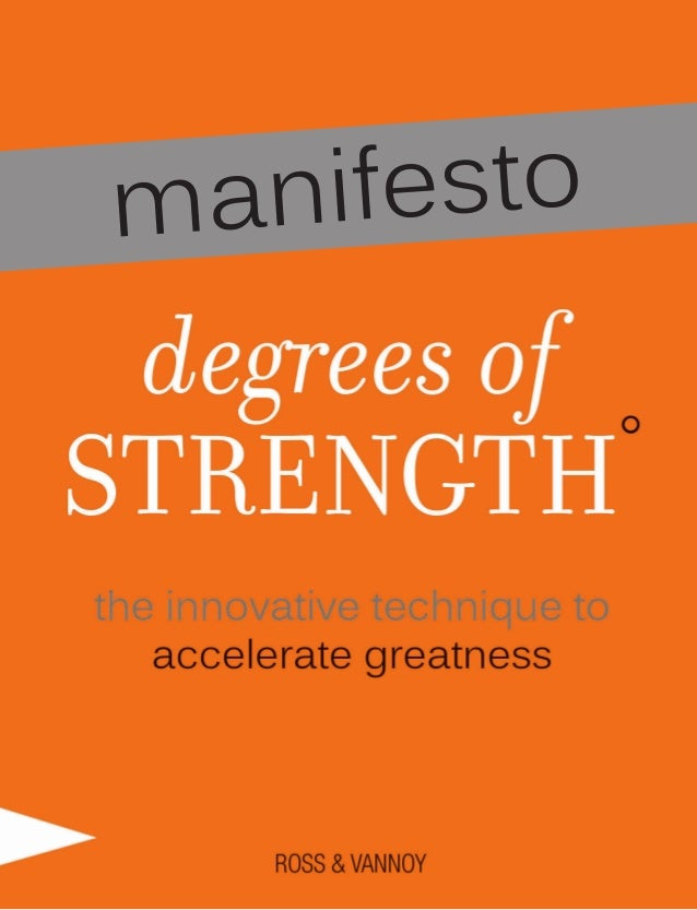Degrees of Strength Team Manifesto