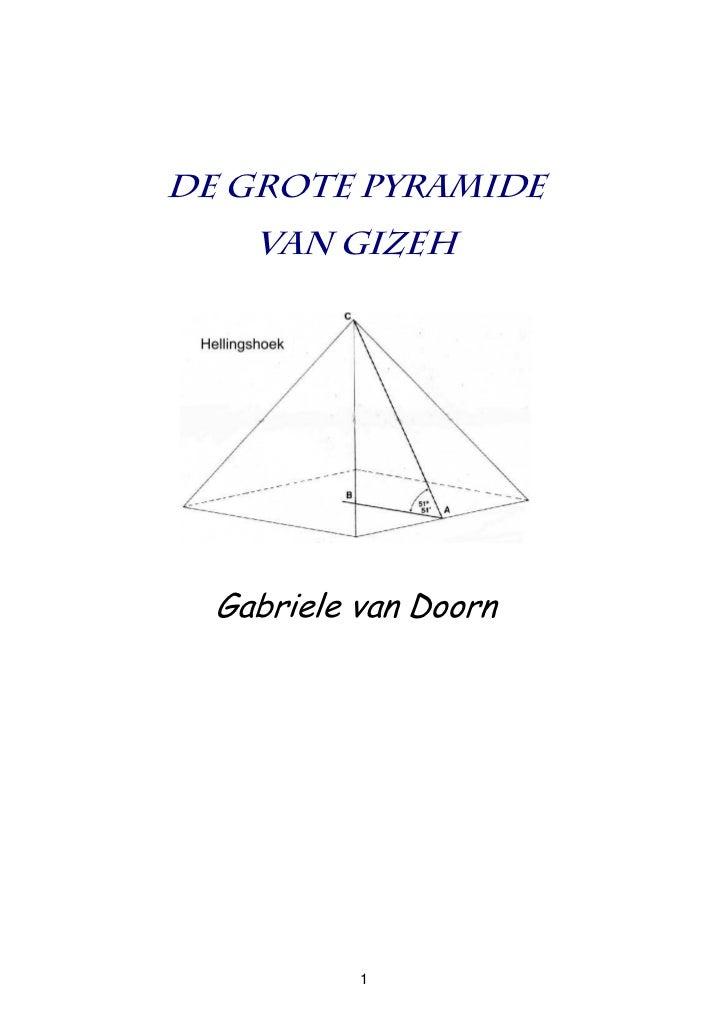 De Grote Piramide Van Gizeh