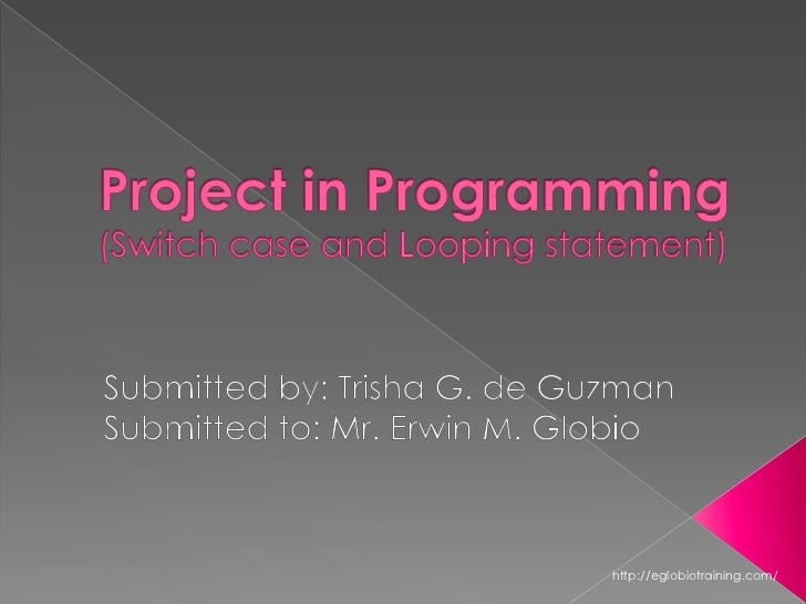 Deguzmanpresentationprogramming