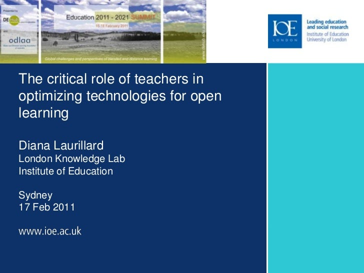 The critical role of teachers in optimizing technologies for open learning