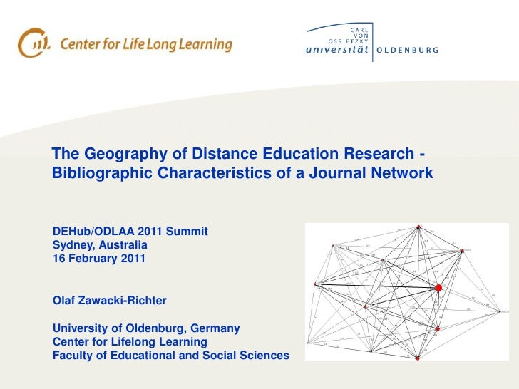 The Geography of Distance Education Research - Bibliographic Characteristics of a Journal Network