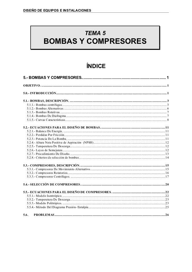 DISEÑO DE EQUIPOS E INSTALACIONES                                                                      TEMA 5             ...