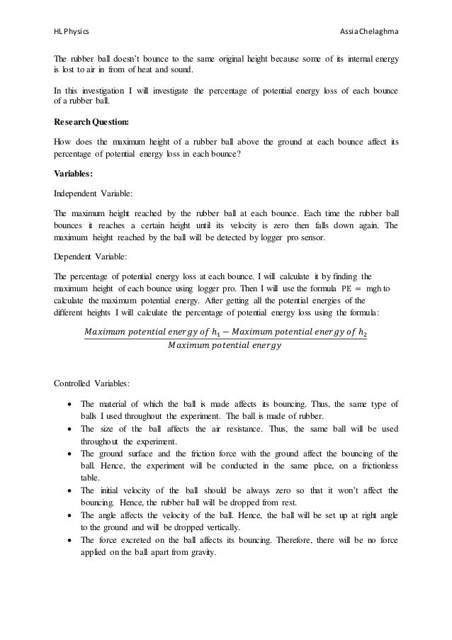 """physics ia design First draft of my new ib physics ia guide first draft of my new ib physics ia guide explore explore scribd  the design criteria from the """"physics  figure 2 ."""