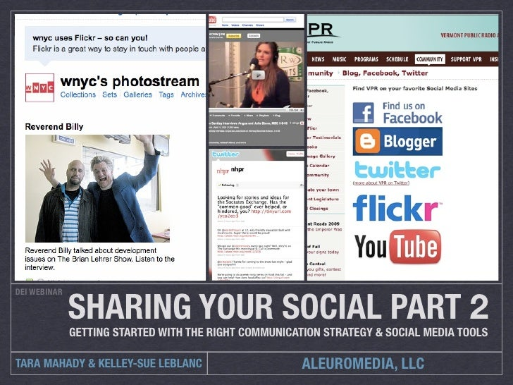 SHARING YOUR SOCIAL PART 2 DEI WEBINAR                  GETTING STARTED WITH THE RIGHT COMMUNICATION STRATEGY & SOCIAL MED...