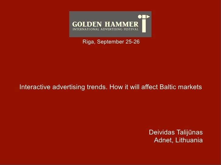 Deividas Talijūnas Golden Hammer