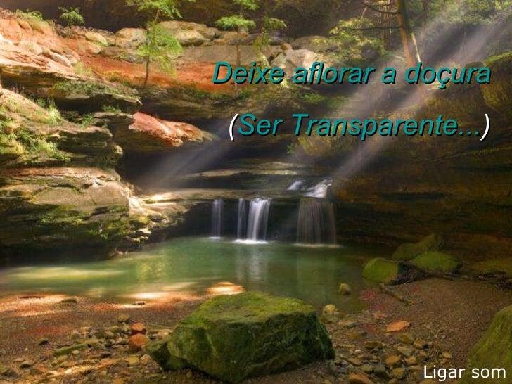 Ligar som Deixe aflorar a doçura ( Ser Transparente... )