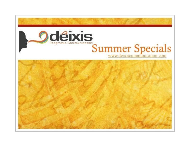 Deixis Comunicación Promociones Verano 2011